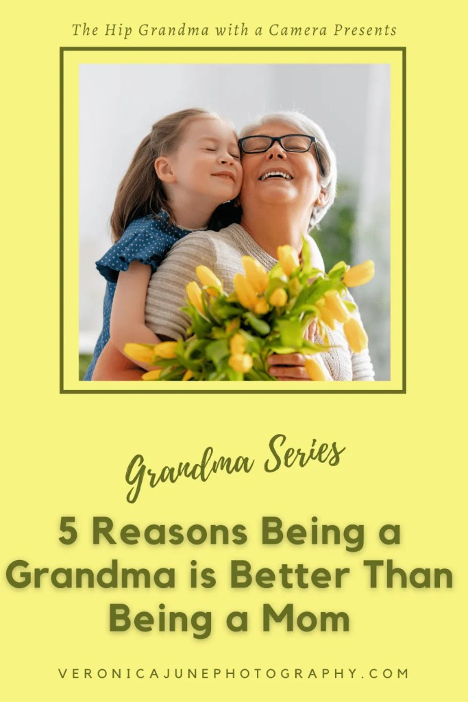 PIN image for being a grandma showing a grandmother and child and post title