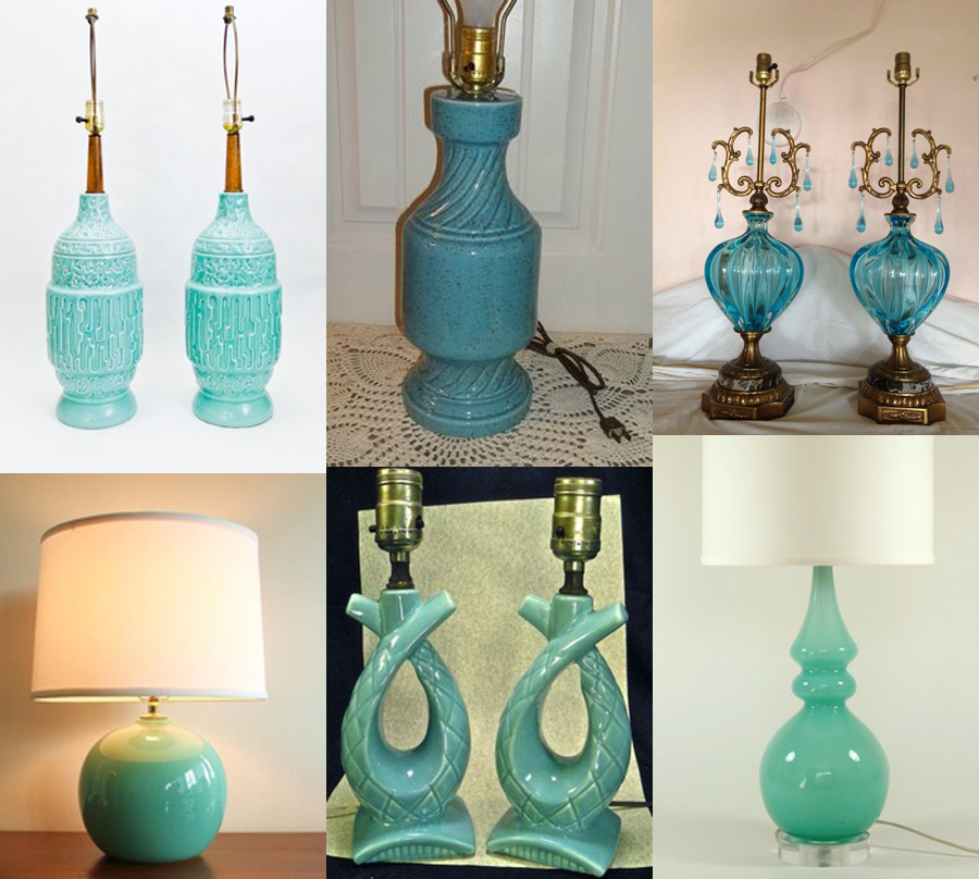 turquoise lamps
