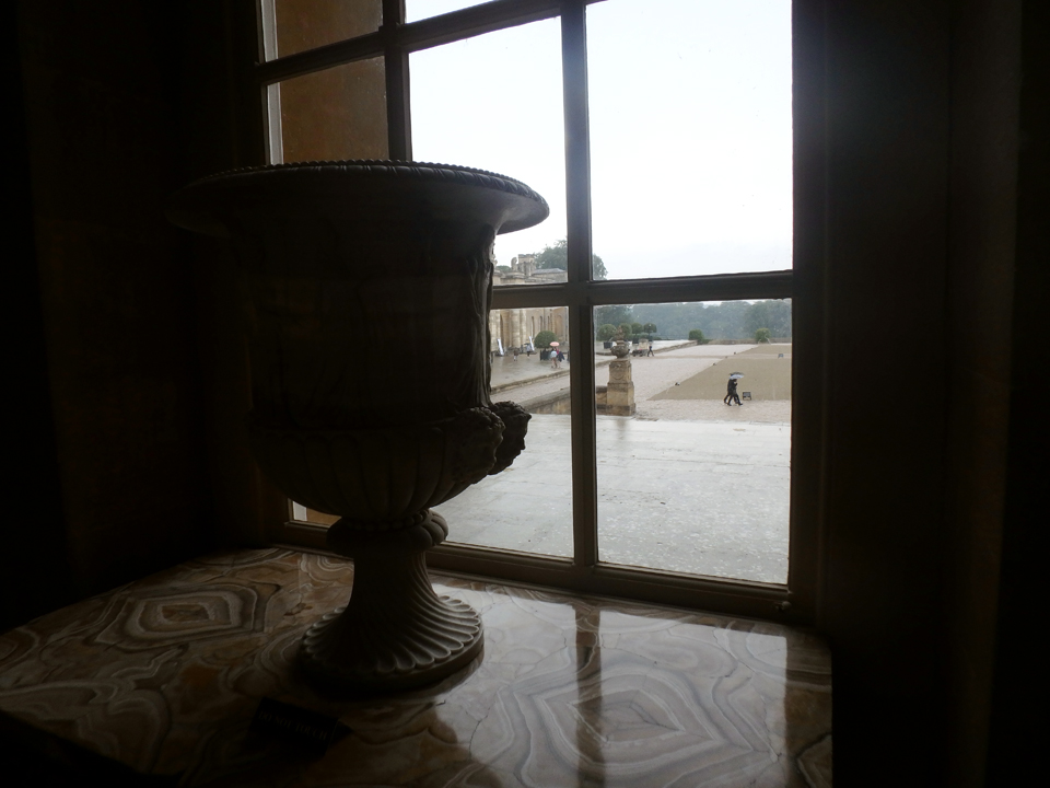Looking of the window at Blenheim Palace