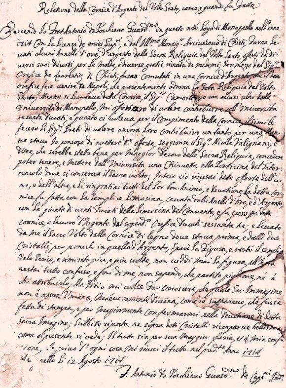 ManoppelloAgosto1714PoschiavoManoscrittoCornice