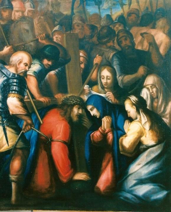 Andata al calvario, Francesco Morandini detto il Poppi 1544c-1597 cm 145x119