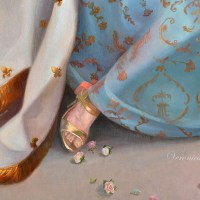 "Marie Antoinette, oil on canvas, 36x48"" detail"