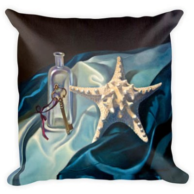 still life with starfish custom pillow veronica winters shop
