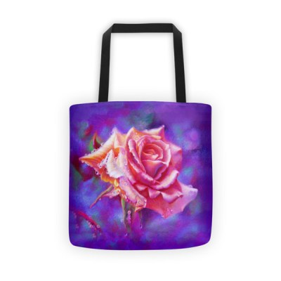 Tote bags for teachers: Pink Rose