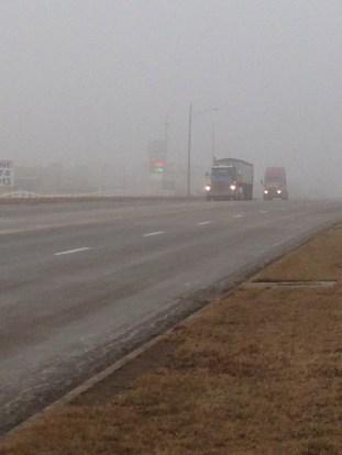 Foggy 50, looking east