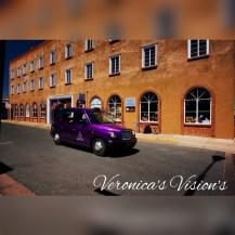 Purple Taxi   Vintage Cars   ©Veronica Markland 2016   Santa Fe, New Mexico