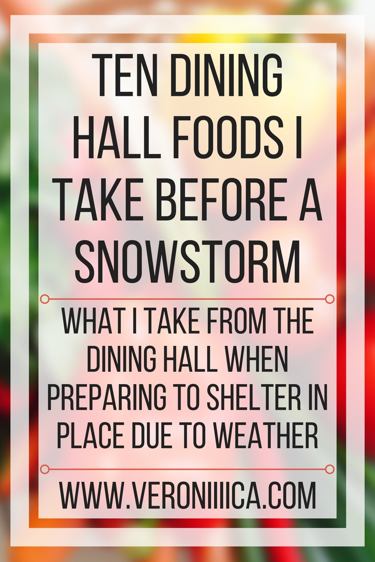 Ten dining hall foods I take before a snowstorm