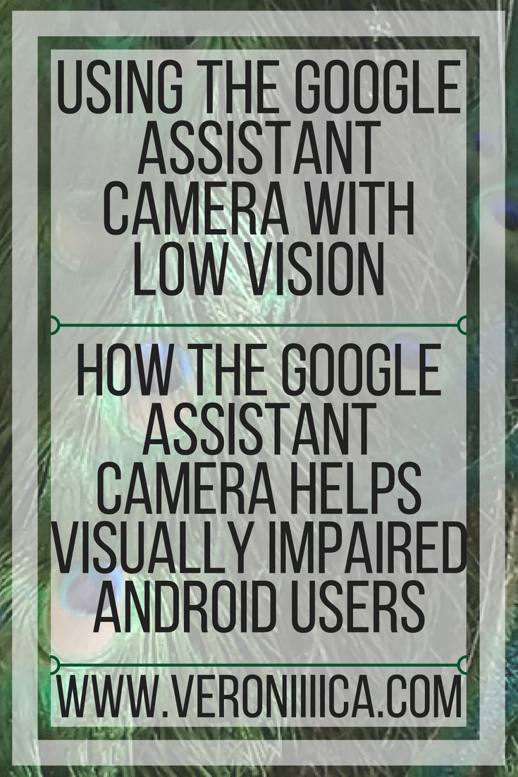 Using the Google Assistant camera with low vision. How the Google Assistant camera can help visually impaired android users