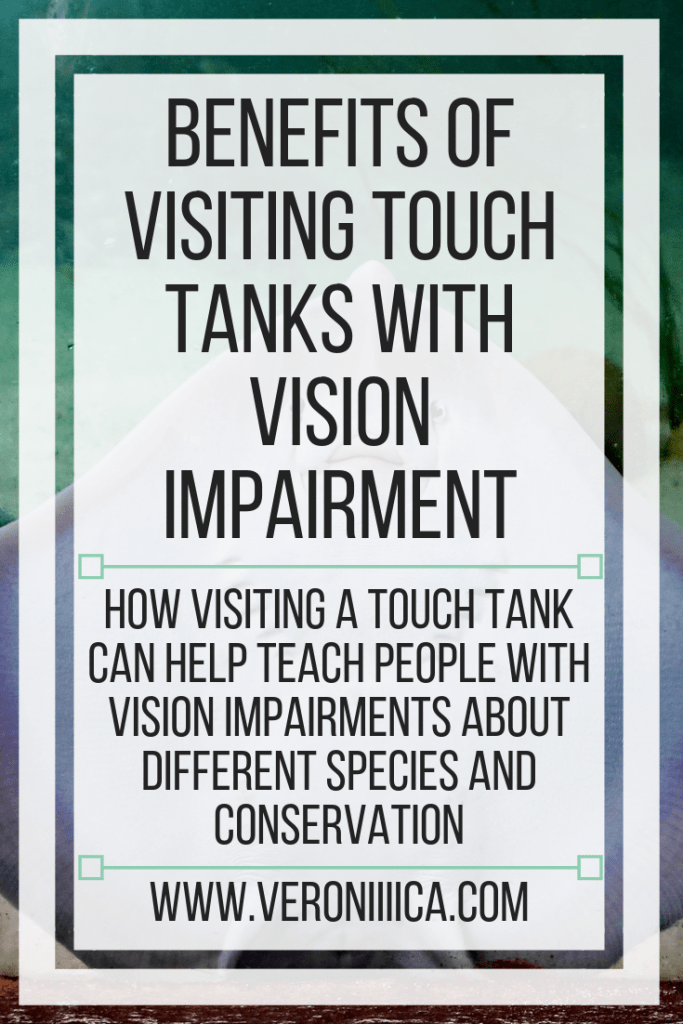 Benefits of visiting touch tanks with vision impairment. How visiting a touch tank can help teach people with vision impairments about different species and conservation