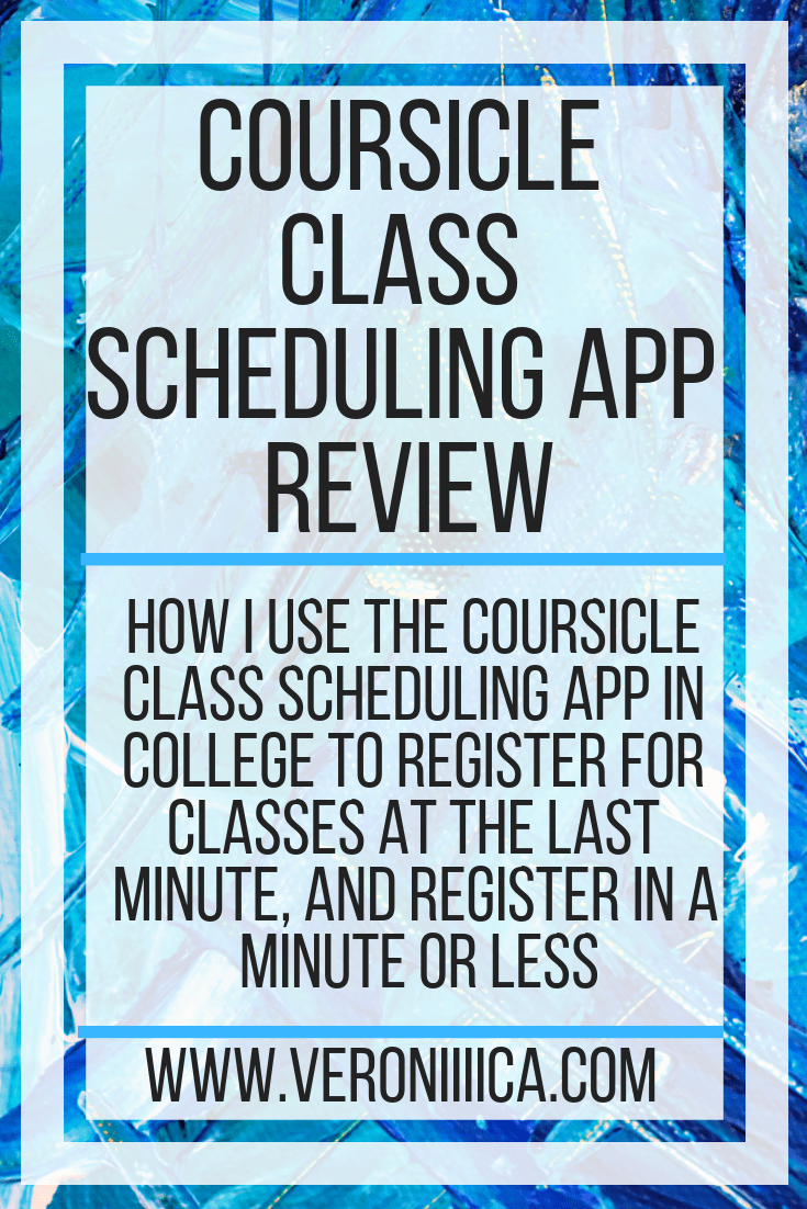 How I use the Coursicle class scheduling app in college to register for classes at the last minute and register in a minute or less