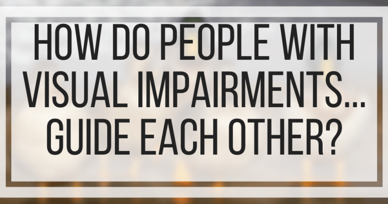 How Do People With Visual Impairments Guide Each Other?