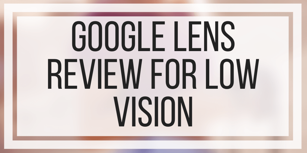 Google Lens Review For Low Vision