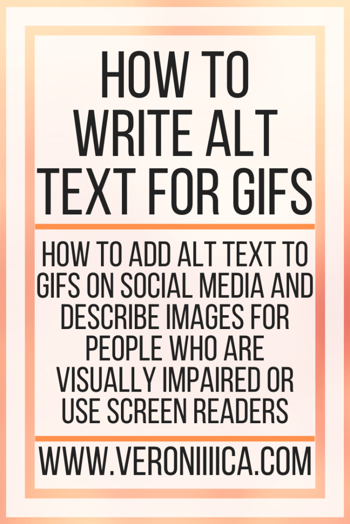 How To Write Alt Text For Gifs. How to add alt text to gifs on social media and describe images for people who are visually impaired or use screen readers