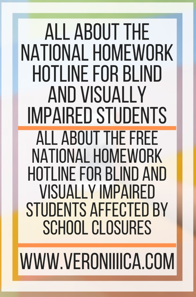 All About The National Homework Hotline For Blind And Visually Impaired Students. All about the free National Homework Hotline for blind and visually impaired students affected by school closures