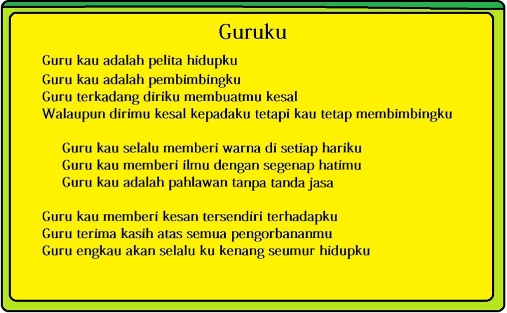 Puisi Untuk Guru  veronika74