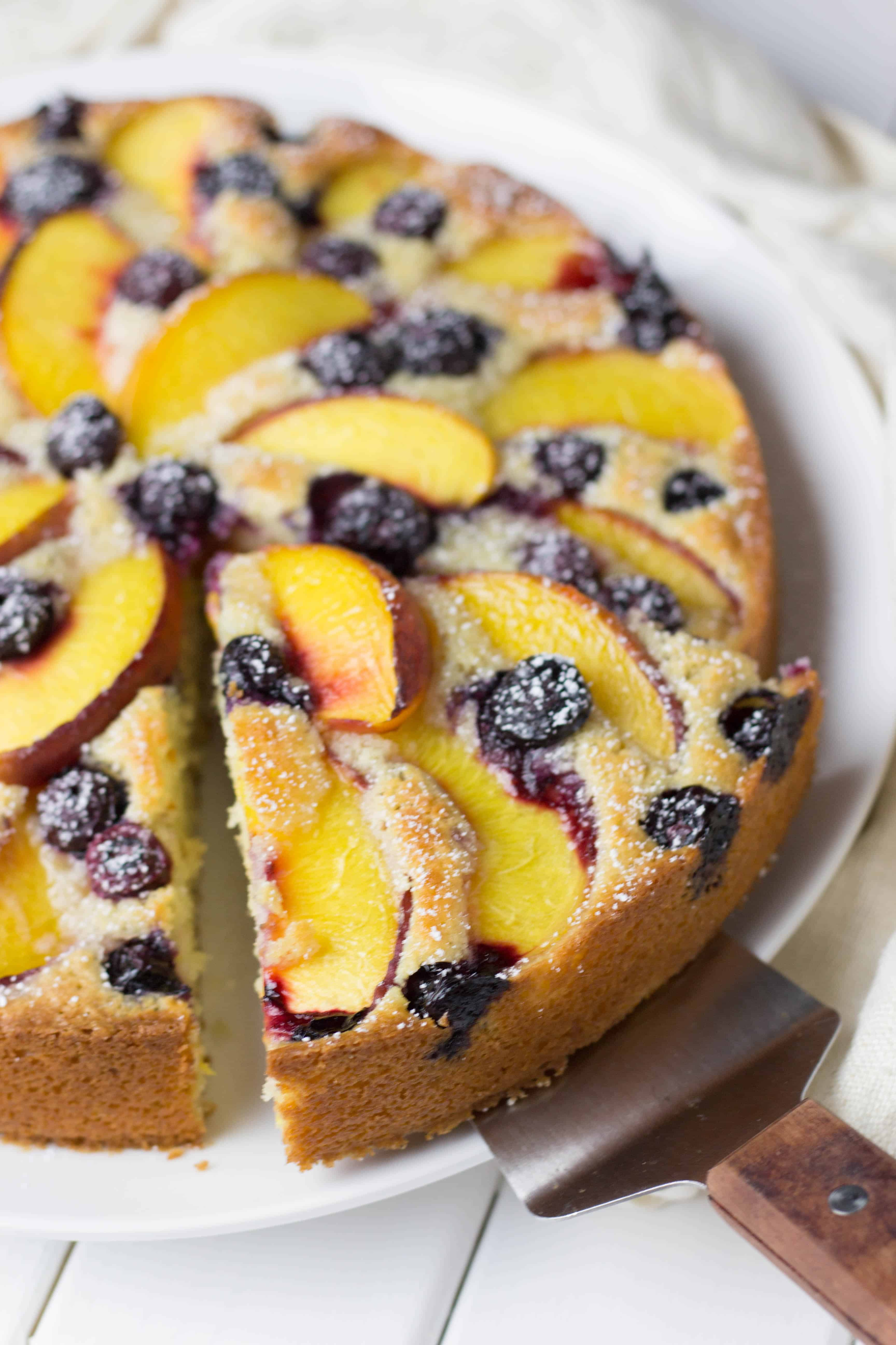Peach and Blueberry Coffe Cake