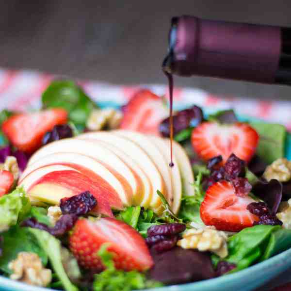 Summer Salad with Raspberry Balsamic Vinegar