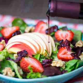 Summer Salad with Raspberry Balsamic Vinegar