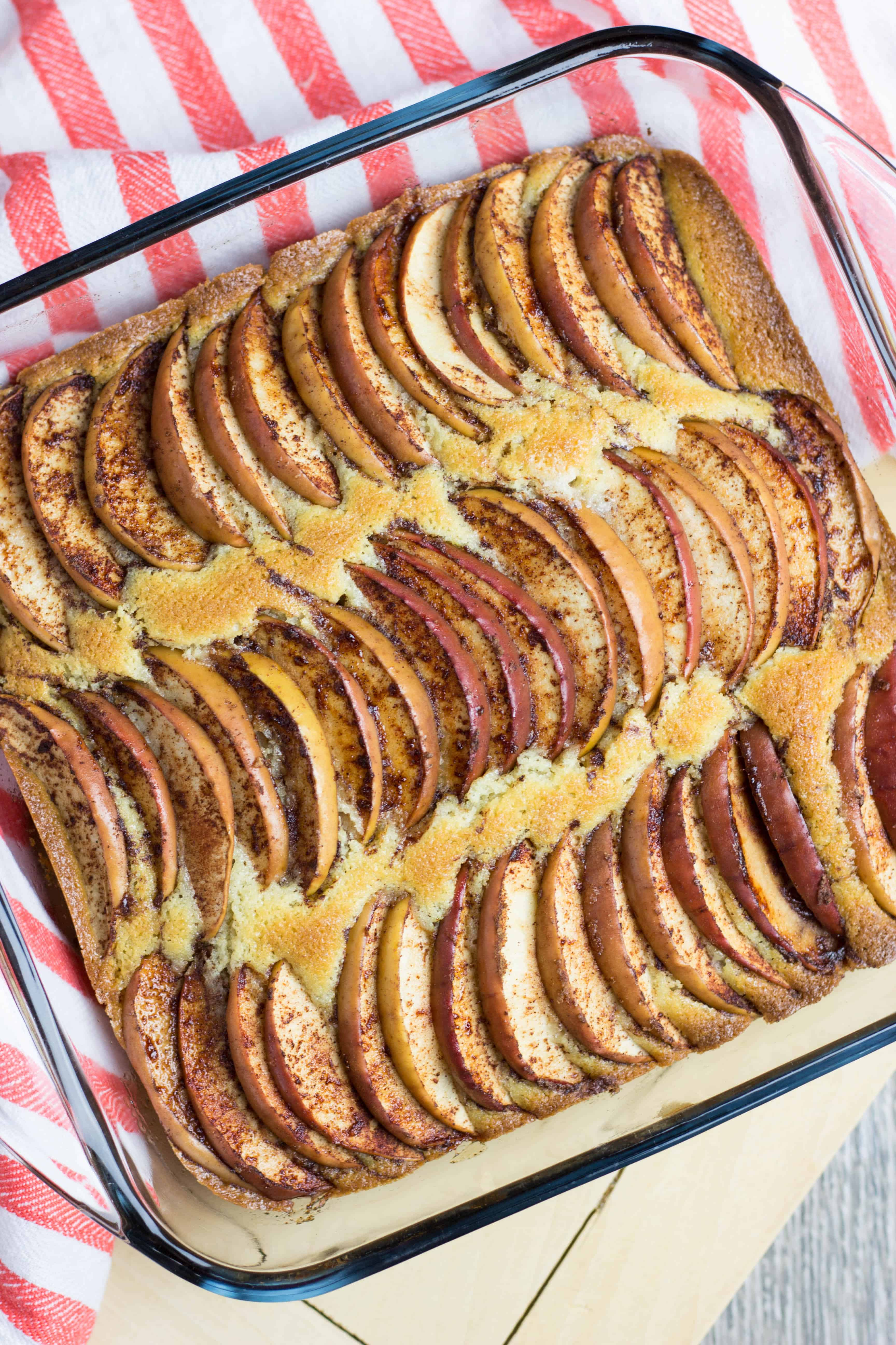 Apple Cinnamon Coffee Cake recipe has a scrumptious soft and buttery cake base, topped with aromatic sliced cinnamon apples. It is a great recipe for the holiday season which can be served as a dessert, or for breakfast.