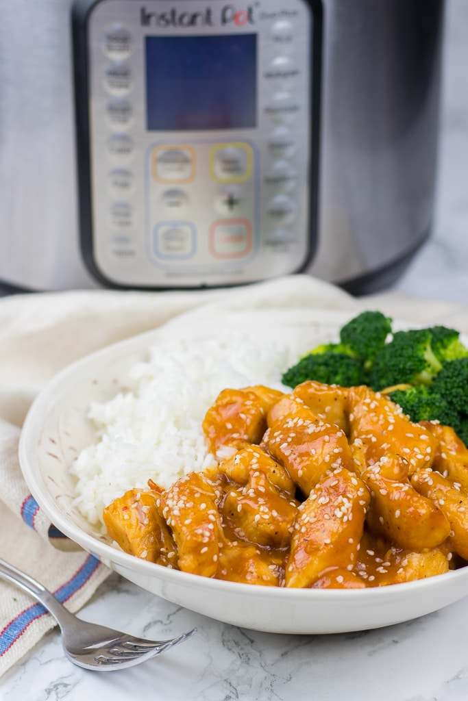 Instant pot orange chicken veronikas kitchen instant pot orange chicken recipe is a perfect all in one pot meal forumfinder Choice Image