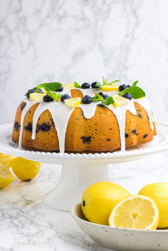 Lemon Blueberry Bundt Cake Veronika S Kitchen