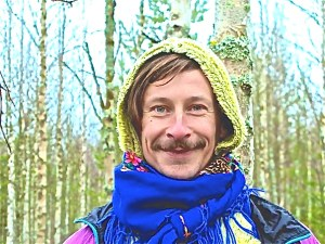 Tomi in forest, Finland 2008. Photo Credit: Tiago Da Cruz