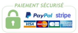 Paiement sécurisé Paypal et Stripe