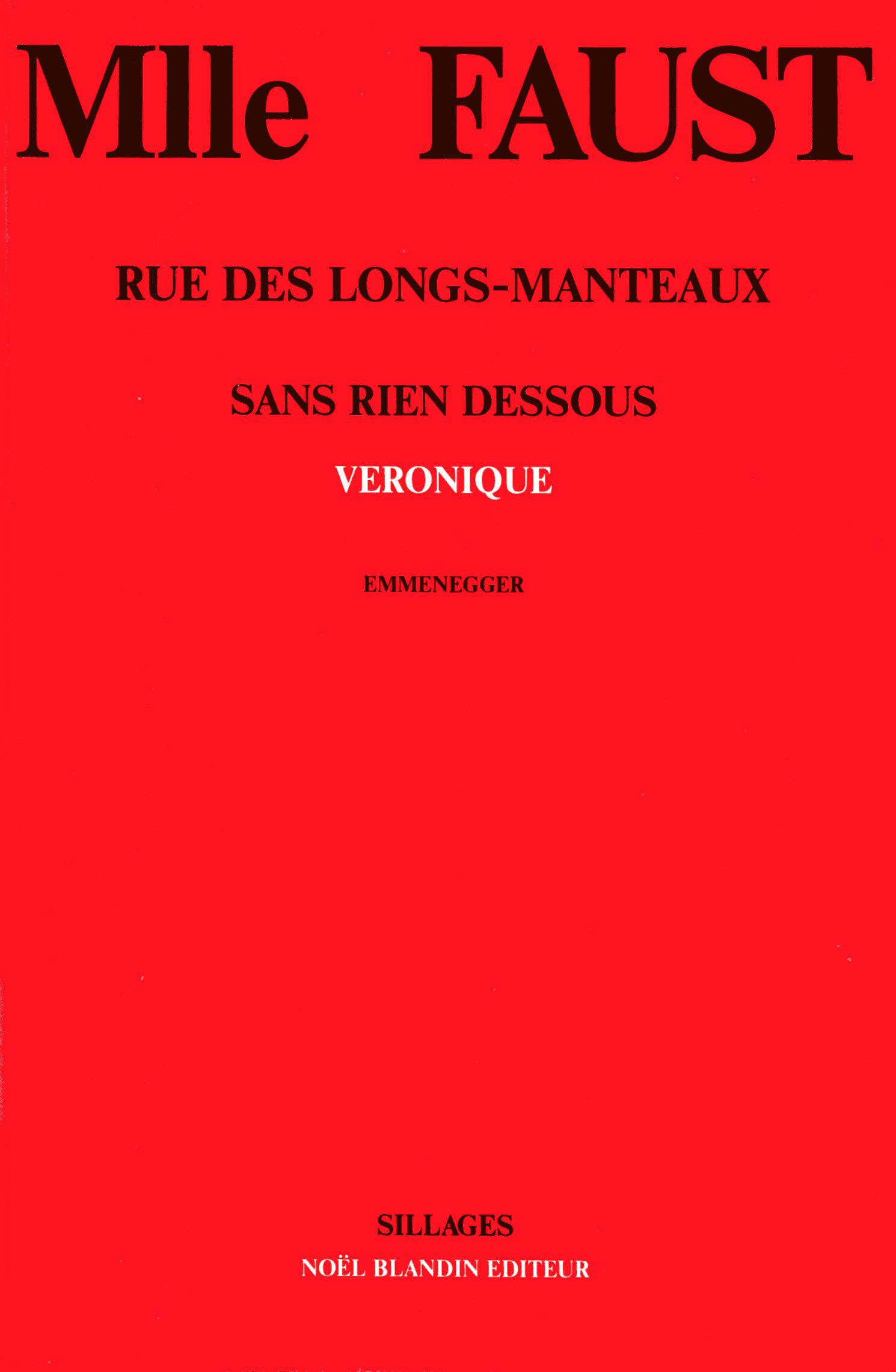Livre Mademoiselle Faust