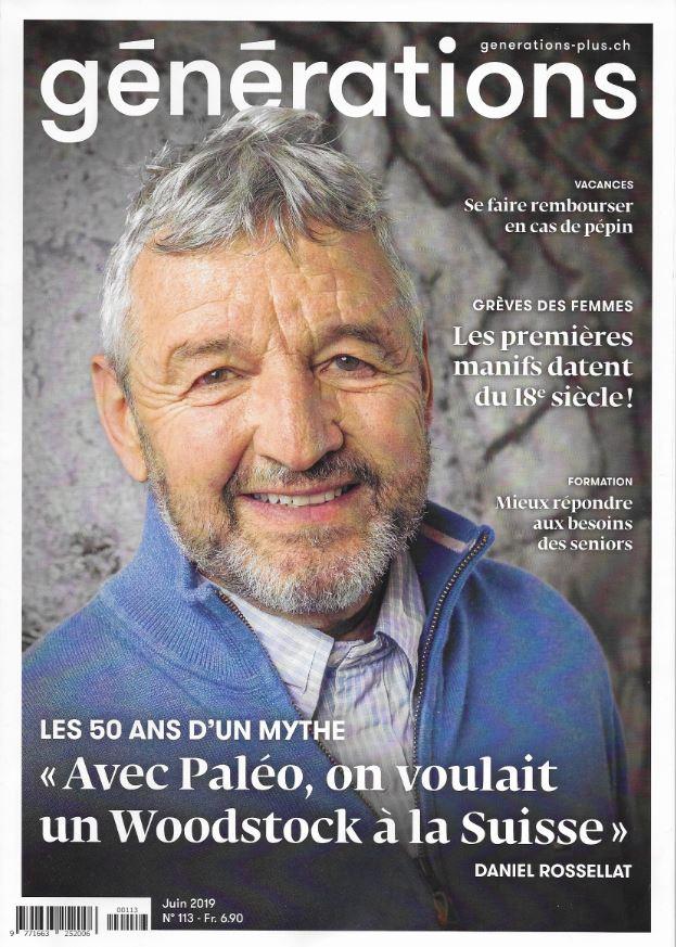 Couverture du magazine Générations, juin 2019