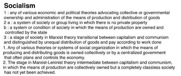 socialism - definition