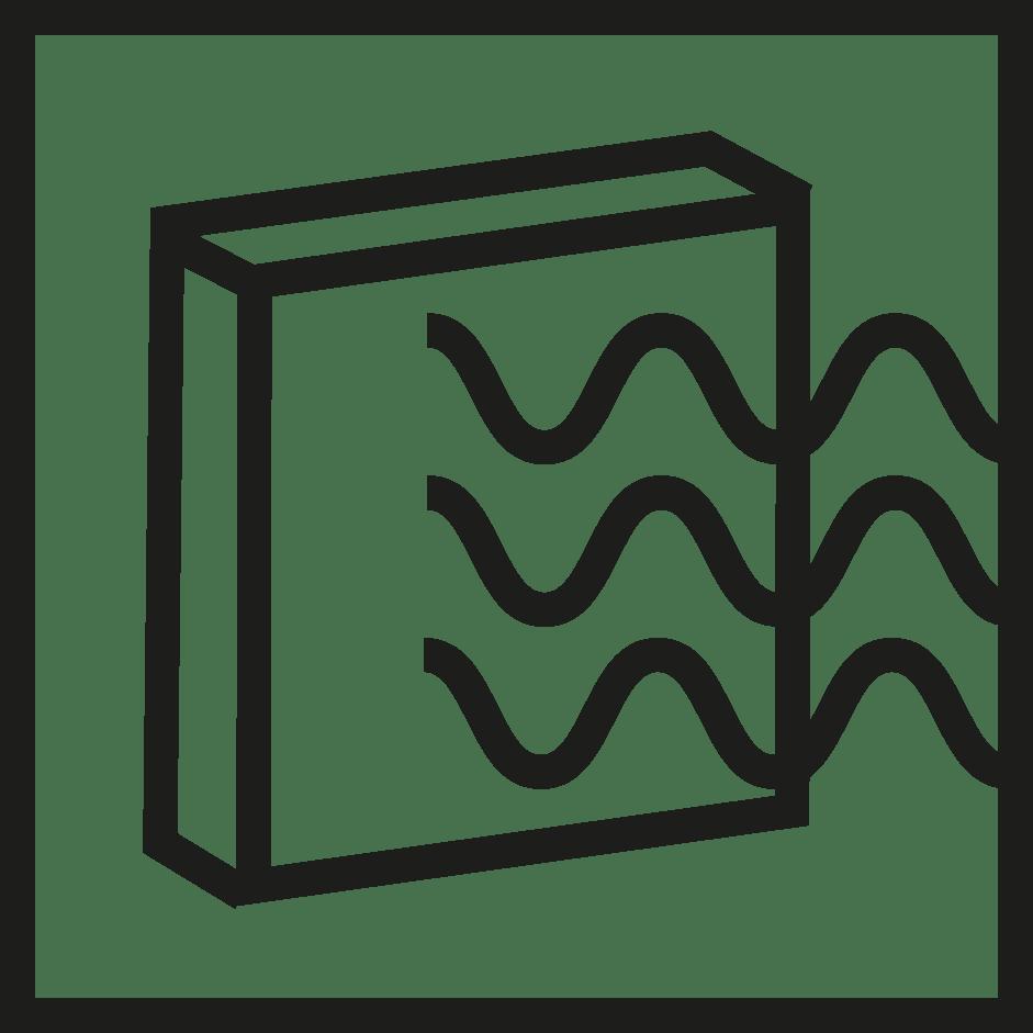 símbolo emisividad IR verosol negro
