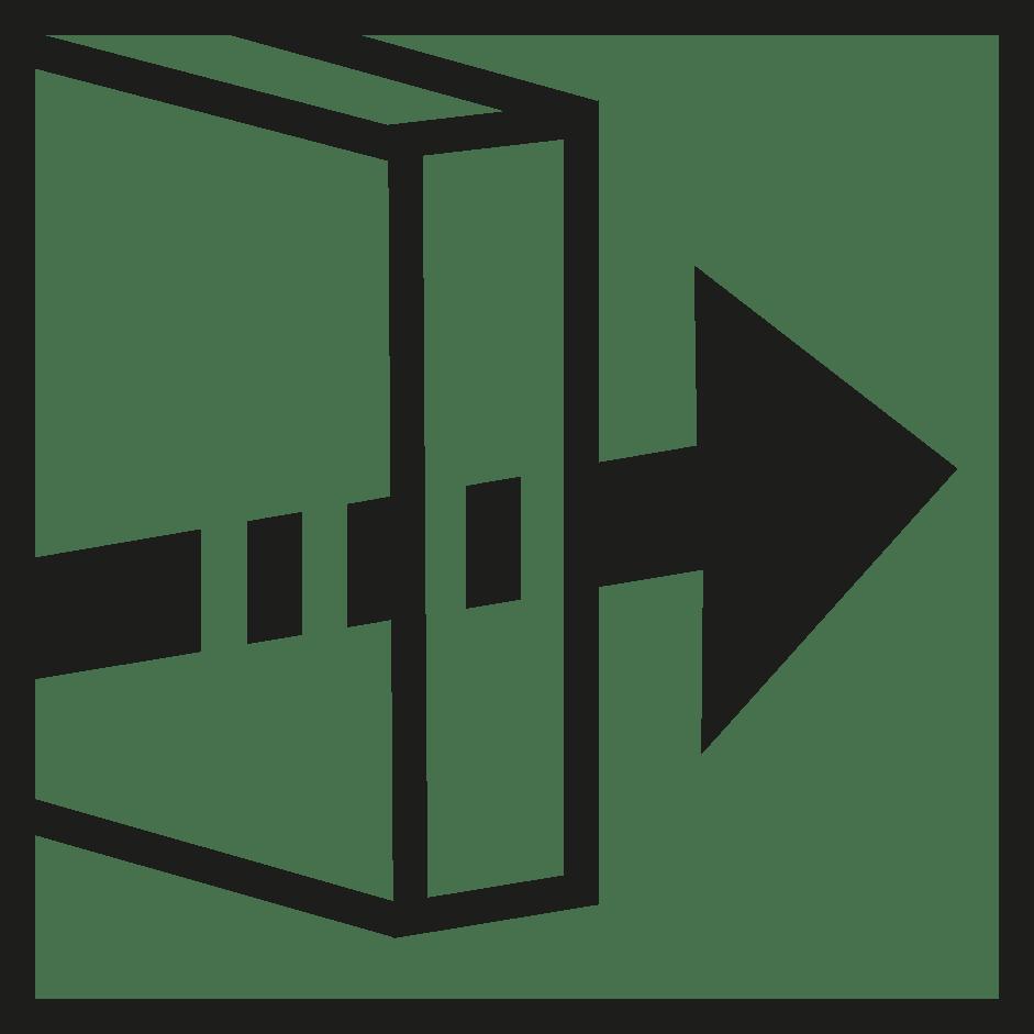 símbolo transmisión lumínica verosol negro