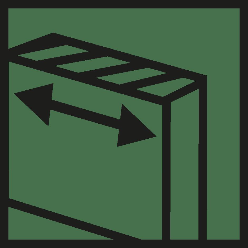 símbolo ancho verosol negro
