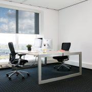 Cortinas enrollables verosol tejido Omnia negra oficina