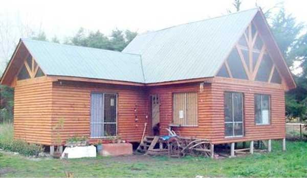 Plano de casa de 65m2 con 3 dormitorios