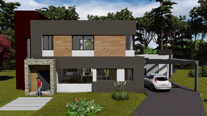 Plano de casa de 1684 m2 de 3 dormitorios y 3 baos