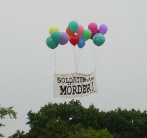 Proteste gegen das Sommerbiwak 2008
