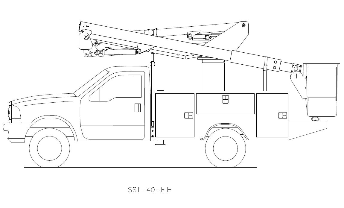 hight resolution of bucket truck