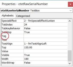 TextBoxProperties-Tag