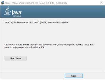 Installed Java SE Development Kit (64-Bit)