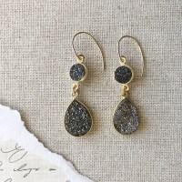Vivien Double Druzy Earrings - Versant