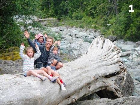 Photo de Ashley et sa famille pour notre article Famille et plein air, oui c'est possible en collaboration avec Ti-Mousse