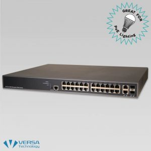 VX-GPU2626 PoE Switch - Great for PoE Lighting