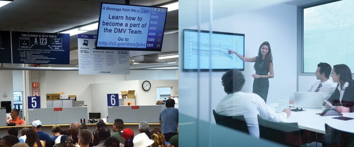 Digital Signage at the DMV or in a meeting
