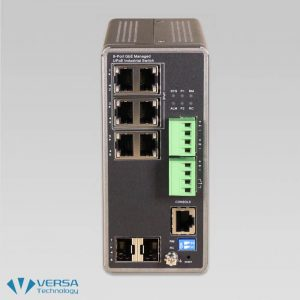 VX-IGPU-2708A Industrial UPoE Switch Front