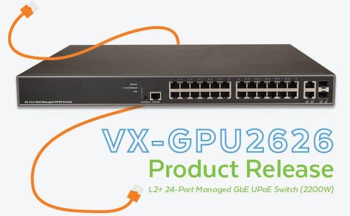 VX-GPU2626 L2+ Managed PoE Switch