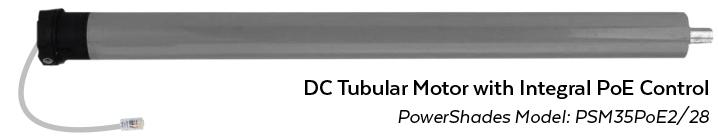 PowerShades Tubular Motor with PoE