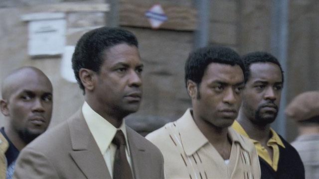 Denzel Washington as Frank Lucas in Ridley Scott's American Gangster