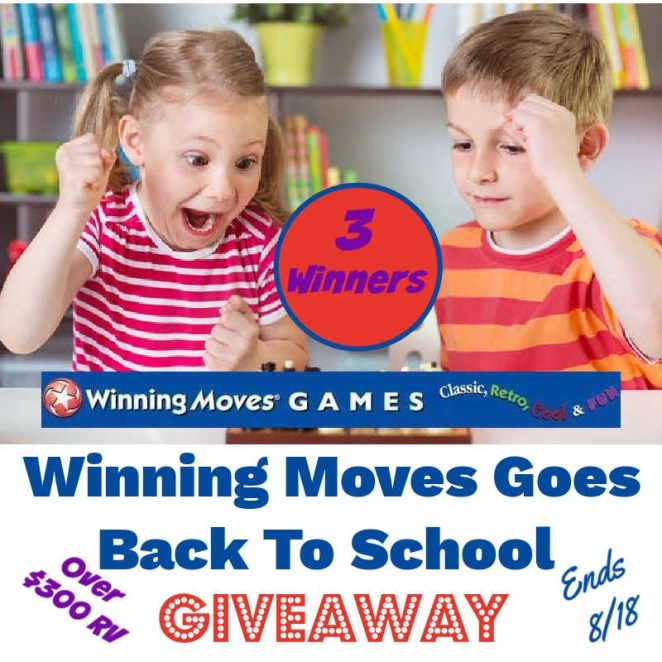 Winning Moves Goes Back To School Giveaway