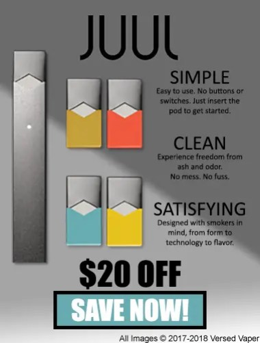 JUUL Coupon Code - SAVE $20 on a New JUUL Starter Kit!